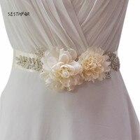 S251 delle Donne Handmade Elegante Fiore Nozze Sposa Damigella D'onore Sash Cintura Per la Cerimonia Nuziale Del Partito di Sera Vestito Nuziale