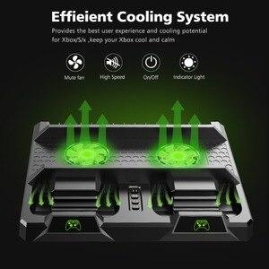 Image 4 - OIVO estación de carga de Doble controlador para Xbox ONE S X, base de carga de juegos, soporte Vertical de enfriamiento, cargador para consola Xbox ONE/S/X