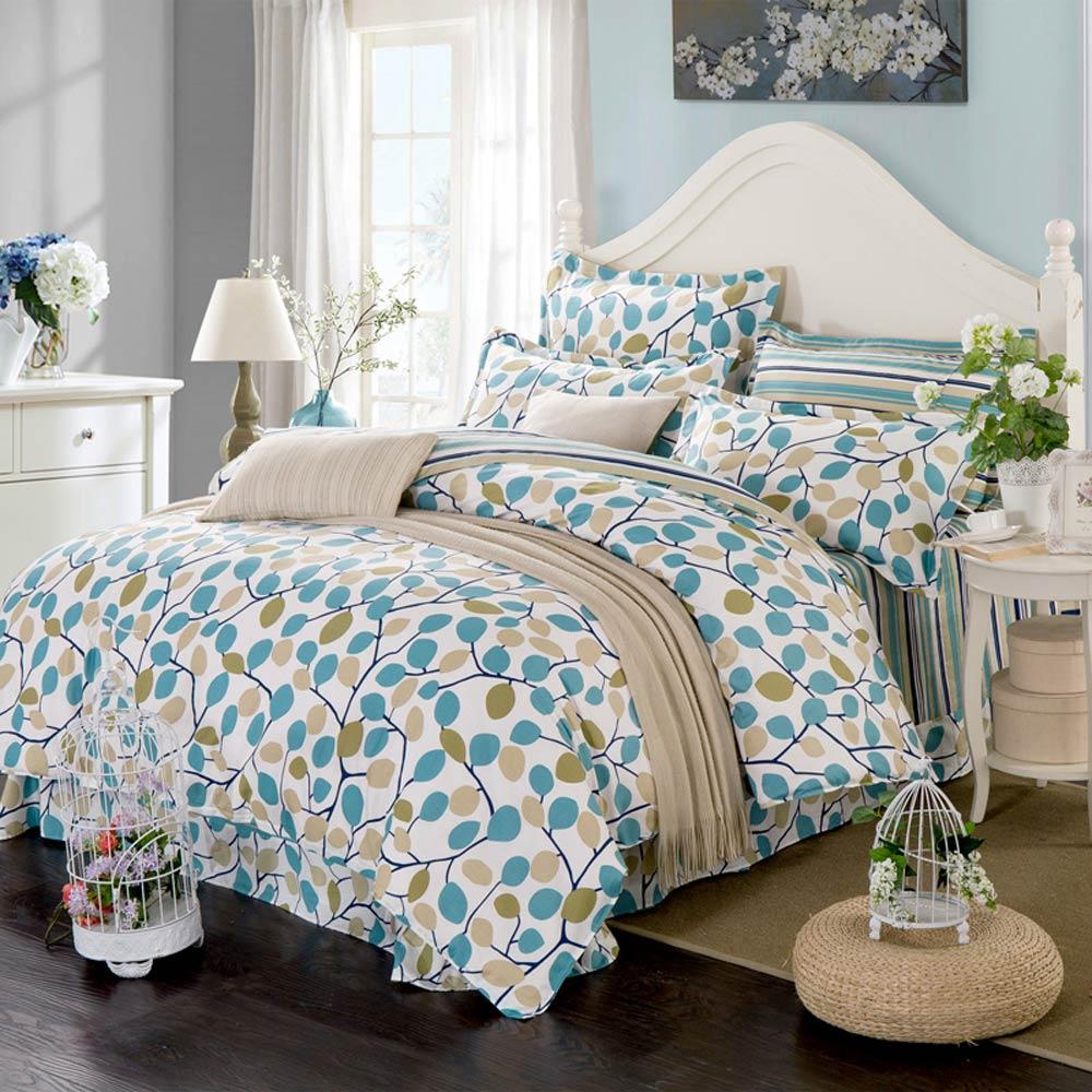 Svetanya Family Set Bedlinen Cotton Sheet Pillowcases 2pc Blanket Cover Bedding Sets