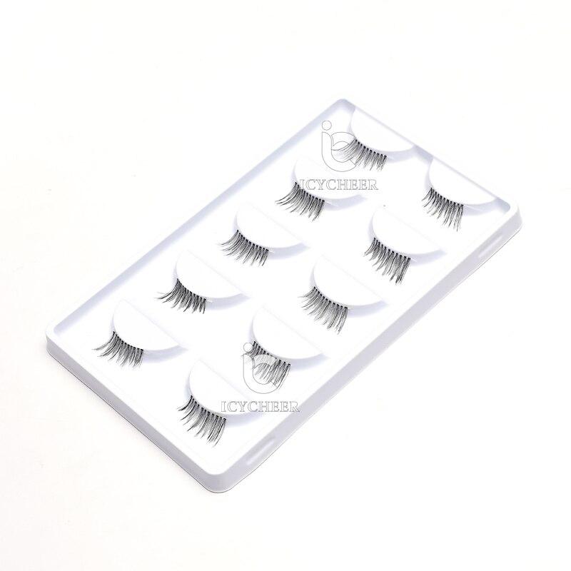 Image 5 - ICYCHEER 5 Pairs Handmade Cross False Eyelashes Half Corner Mini Cute Makeup Eye Lashes-in False Eyelashes from Beauty & Health
