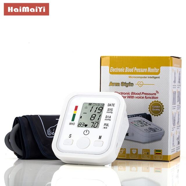 Upper Arm Blood Pressure Monitor Automatic Digital Heart Beat Rate Pulse Meter Tonometer Sphygmomanometers pulsometer 4