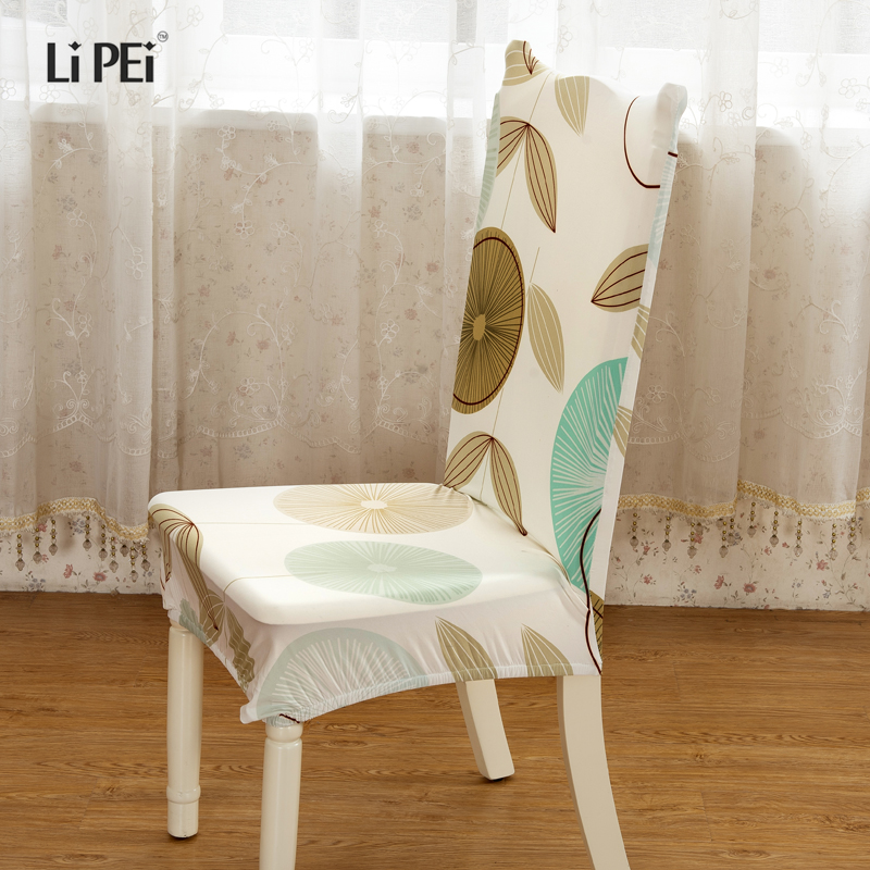 Fresh Pattern Removable Chair Cover Stretch Elastic Slip