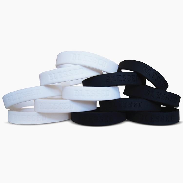 1 St Gezegend Bijbel Promise Band Siliconen Rubber Armband Polsband