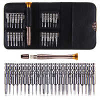 25 in1 Precision  Screwdriver torx  precision hand screwdrivers tool set for mobile phones bits for screwdriver MultiTools watch