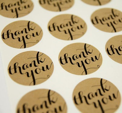Thank You Stickers, Thank You Labels, Thank You Self Adhesive, 3.8cm 600pcs