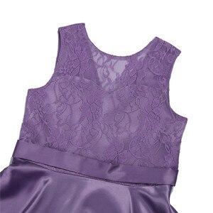 Image 5 - Iefielノースリーブ女の子子供の花のレースチュール用ブライダルウェディングウエディングパーティー日の十代のドレス