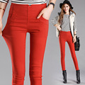Spring and Summer Women's Slim Pencil Pants Candy Colors slacks girl's Stretch Trousers Elastic big Size thin Leisure pants 3XL