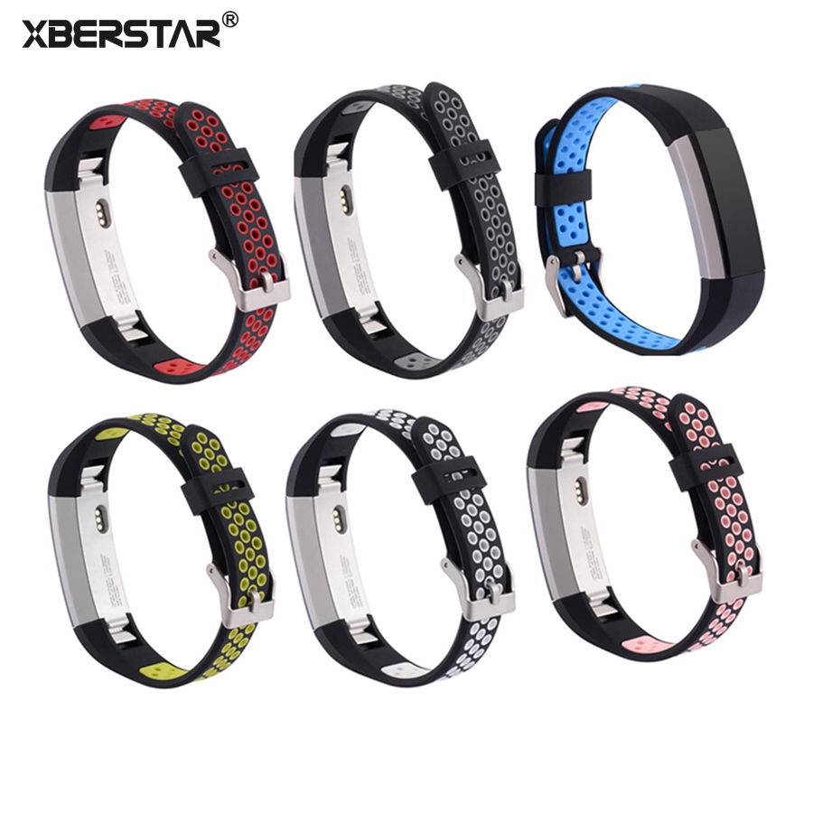 XBERSTAR Watchband Strap for Fitbit Alta Alta HR Fitness Tracker Replacement Breathable Sports Silicone Wrist band lnop nylon rope survival strap for fitbit alta alta hr replacement band bracelet wristband watchband strap for fitbit alta