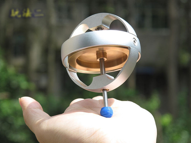 Electric Metal Spinner top Toy With battery Gyroscope Mechanical children Anti gravity Technology teaching tools