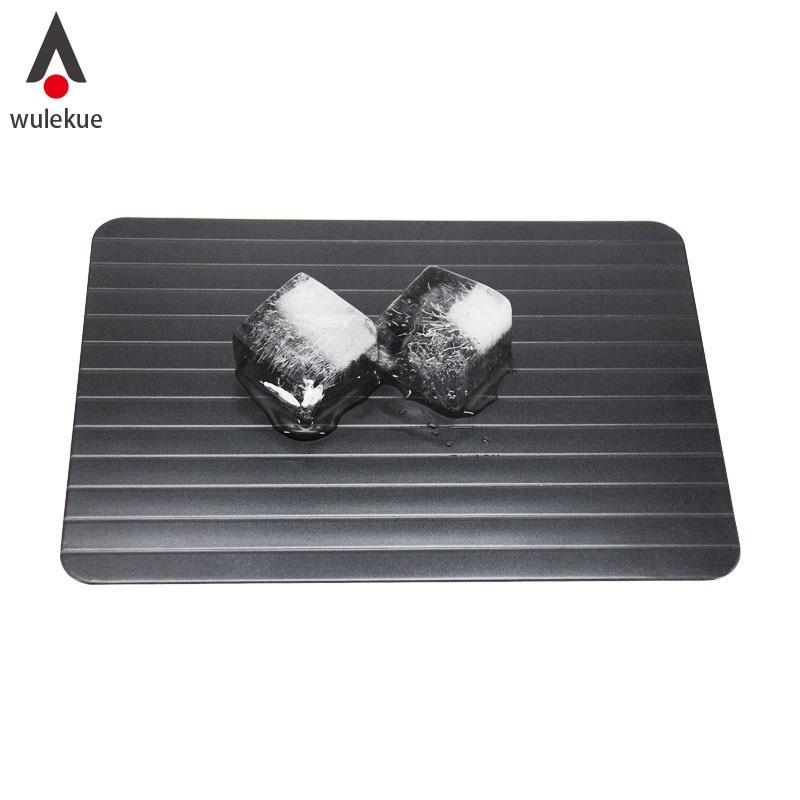Wulekue Magia Veloce Unfreezing Di cibo Disgelo Carne Cassetto Rib Bordo di Sbrinamento Sbrinamento Cibo In Pochi Minuti di Alluminio