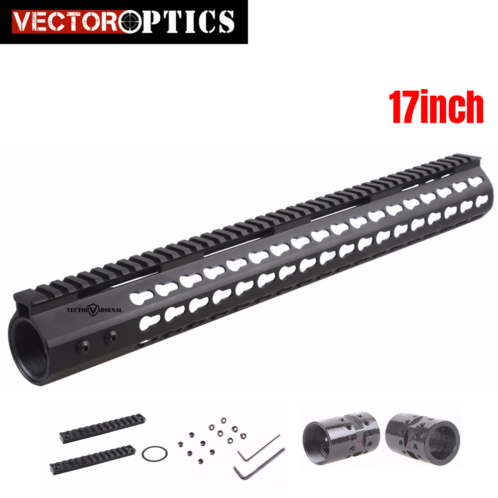 Tactical .308 Slim Free Float KeyMod 17 Inch High Profile Handguard Picatinny Rail Mount Bracket Steel Barrel Nut fit AR10 308 vector optics tactical 308 slim keymod 17 inch free float handguard picatinny rail mount scope bracket fit ar10 ar 10 308