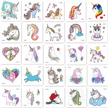 25pieces New Arrival 2018 Mini Unicorn Horse Tattoo Design For Boys Girls Kids Waterproof Temporary Tatoo Sticker Children.
