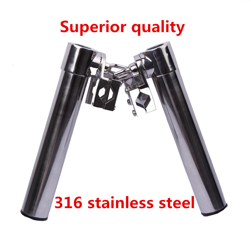 High Quality Boat 316 Stainless Steel Fishing Rod Holder Clamp-on 1 for Marine Yacht Rod Pod Fishing Tool new and original cp1h xa40 dr a omron plc controller module
