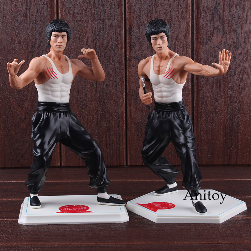 Kung Fu Star Bruce Lee Toy PVC Action Figure Collectible Model Toys 26cm