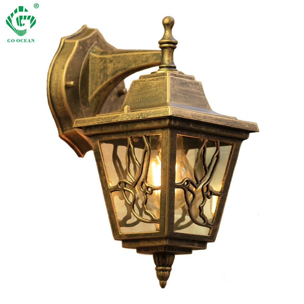 Led Lamps Vintage Wall Lamp Outdoor Lighting Led Street Garden Villa Porch Lights Waterproof E27 Bulb For Patio Bronze Sconce Lighting Led Outdoor Wall Lamps