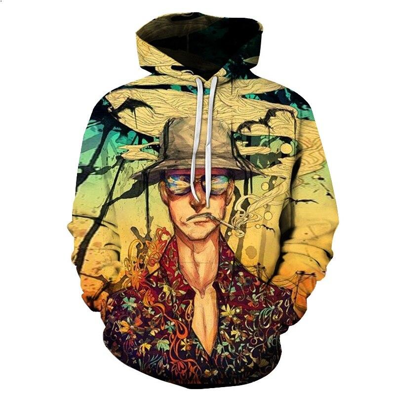 2019 One Piece Sweatshirt Men 3D Printing Hoody Winter Polluvers Women Hooded Sea Thieves Funny Team