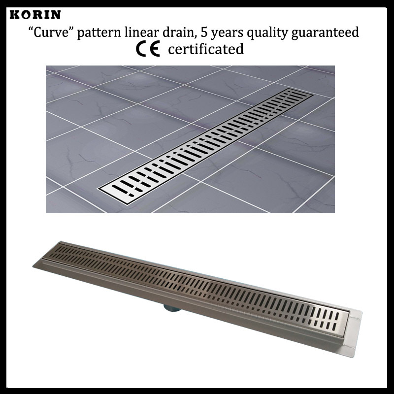 800mm Curve Style Stainless Steel 304 Linear Shower Drain, Vertical Shower Drain with flange, Downside outlet Shower Channel 800mm slim style stainless steel 304 linear shower drain vertical shower drain with flange shower channel