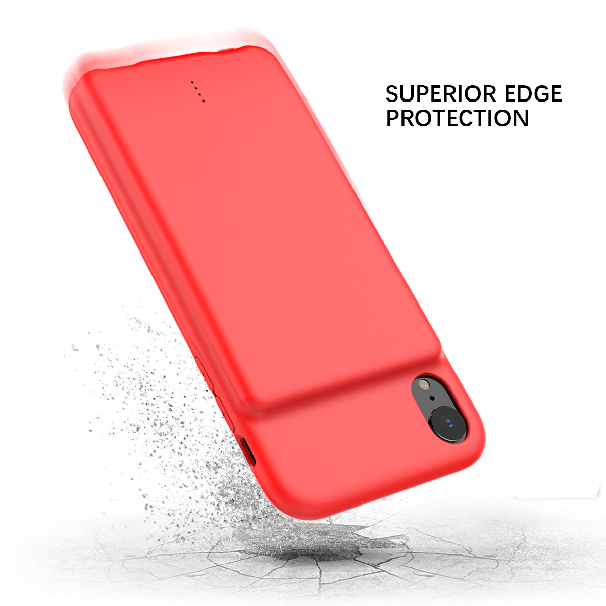 For Iphone Xr Battery Charger Phone Case With Audio 5000mah External Backup Charger Power Bank Protective Phone Shell Cover Battery Charger Cases