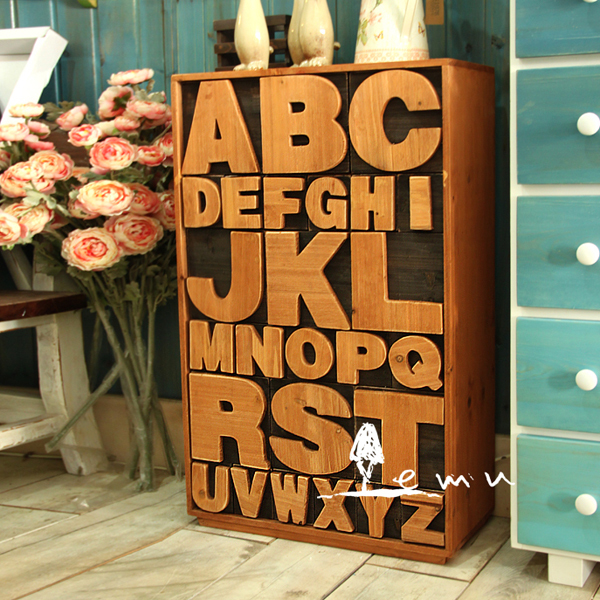 book wood multi bucket inception 26 letter alphabet cabinet drawers