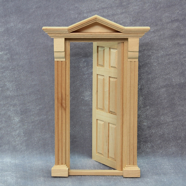 112 Miniature Wooden Dollhouse Door DIY Play Doll House Door Models Furniture Accessories Item & 1:12 Miniature Wooden Dollhouse Door DIY Play Doll House Door Models ...