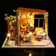 Cutebee Casa Doll House Furniture Miniature Dollhouse DIY Room Box Theatre Toys for Children S03B