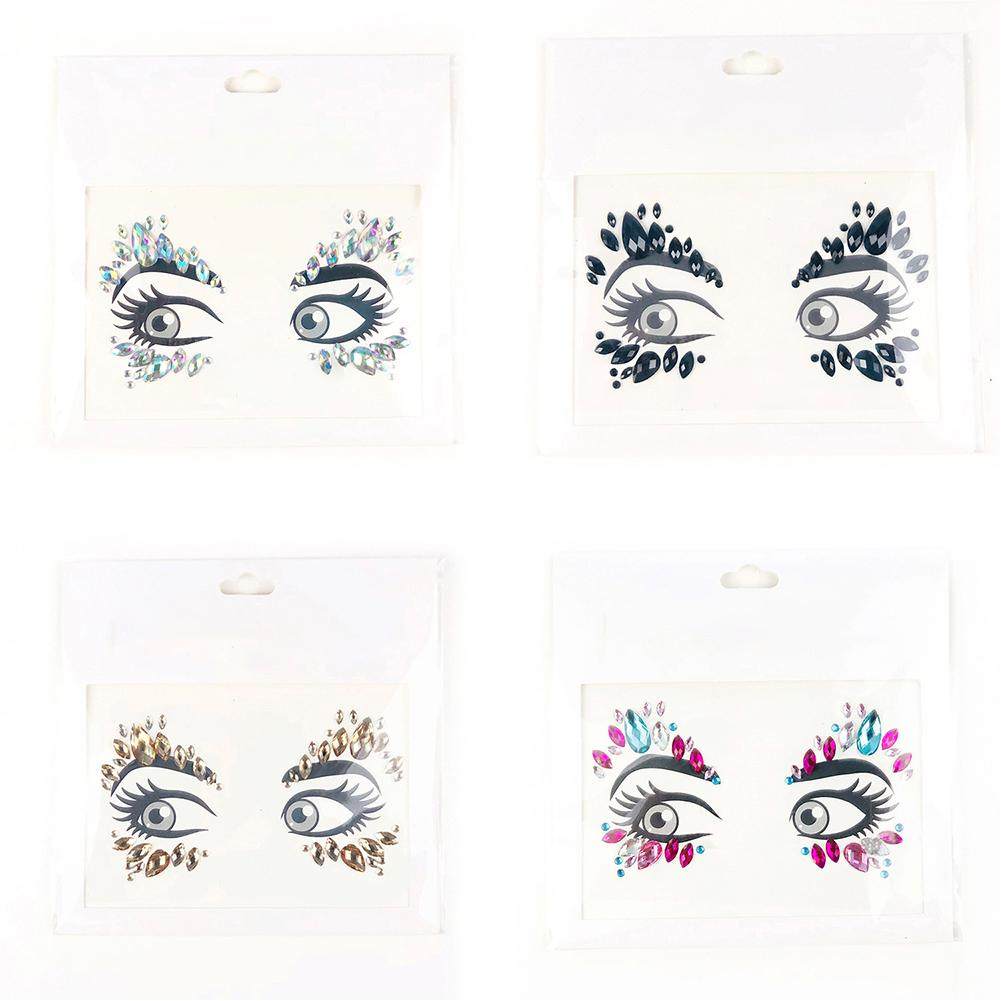 1PC Glitter Festival Party Face Makeup Gems Rhinestone Jewel Body Tattoo  Stickers DIY Acrylic Resin Stickers 8f5655a195fd