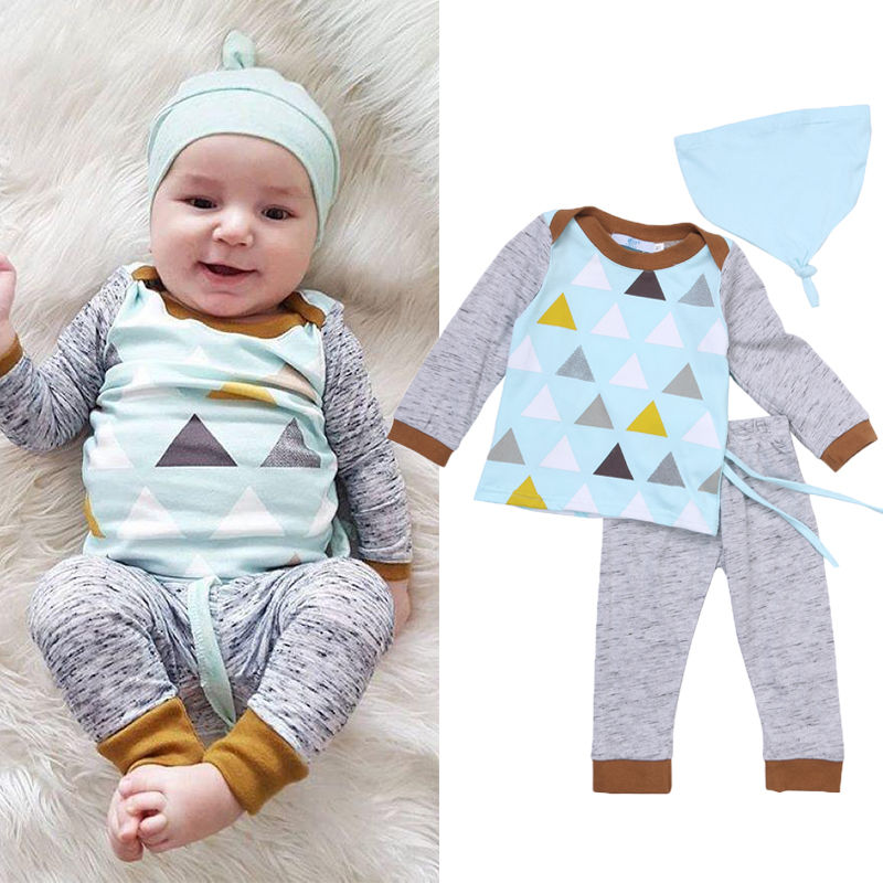 Outfits + Pants Hat Cotton Set Tracksuit Pajamas Baby Boy Girl Kids Baby Boy Girl Clothes Sets Tops T-shirt Long Sleeve Tops newborn kids baby boy summer clothes set t shirt tops pants outfits boys sets 2pcs 0 3y camouflage
