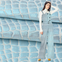 High quality bright silk woven yarn dyed plaid jacquard cloth Jacquard suit dress shirt fabric 145cm wide 500g/m