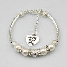 Personalised Mum Sister Family Charm Bracelet Free Gift Bag 7inch