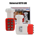 Original hd ku lnb universal digital 8 salida de alta calidad 3D universal de banda ku lnb banda para la televisión por satélite dvbs2 8 salida lnb
