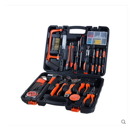100pcs Home Hardware Kit Combination Tool Set Hardware Toolbox Electrical Metal Tools Hand Tools caixa de ferramentas xg001 kraft will seven sets of garden tool set gardening metal toolbox tool set