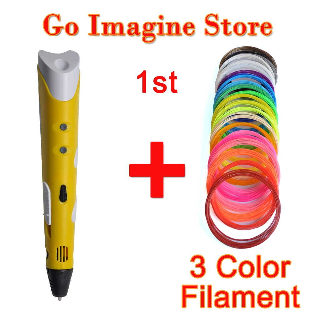 3d magic color handle pen 1.75mm ABS/PLA filament for kids birthday gifts family doodle Graffiti 3d scribble pens