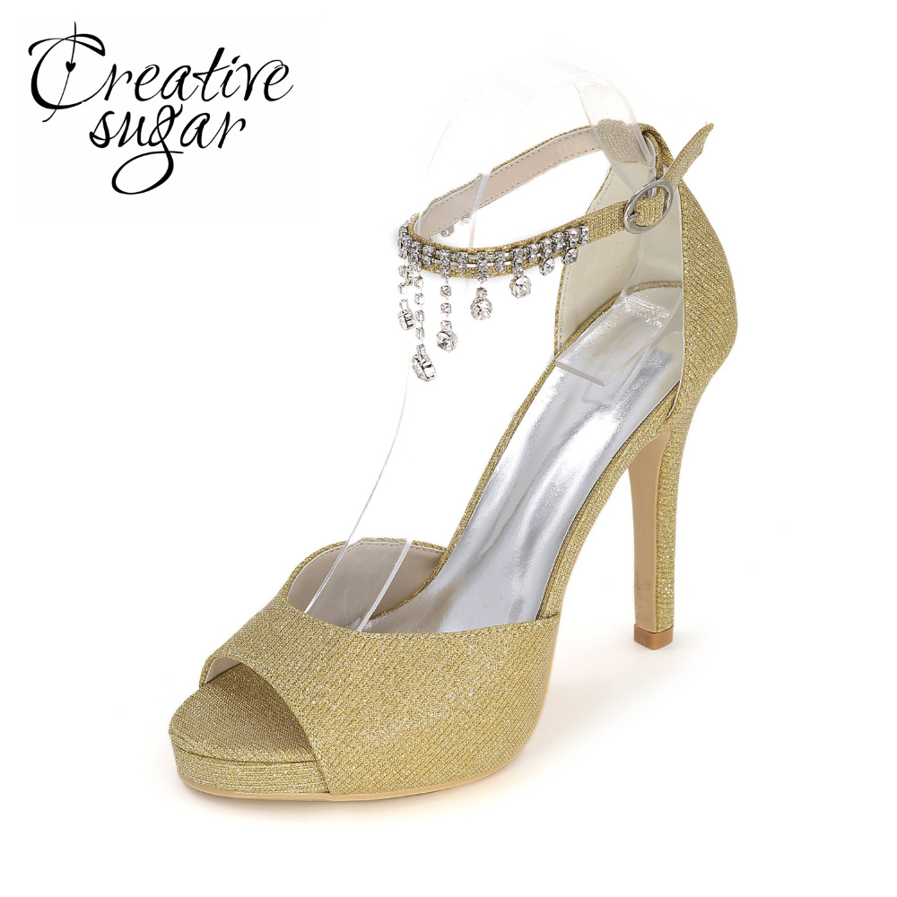 Creativesugar glitter silver gold blue black red ladis sandals tassel ankle strap woman summer shoes party evening night club phyanic 2017 gladiator sandals gold silver shoes woman summer platform wedges glitters creepers casual women shoes phy3323