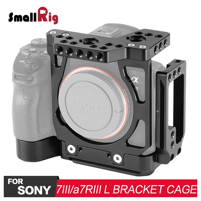 SmallRig A7M3 Half Cage with Arca L Bracket for Sony A7III A7RIII Camera L Plate 2236