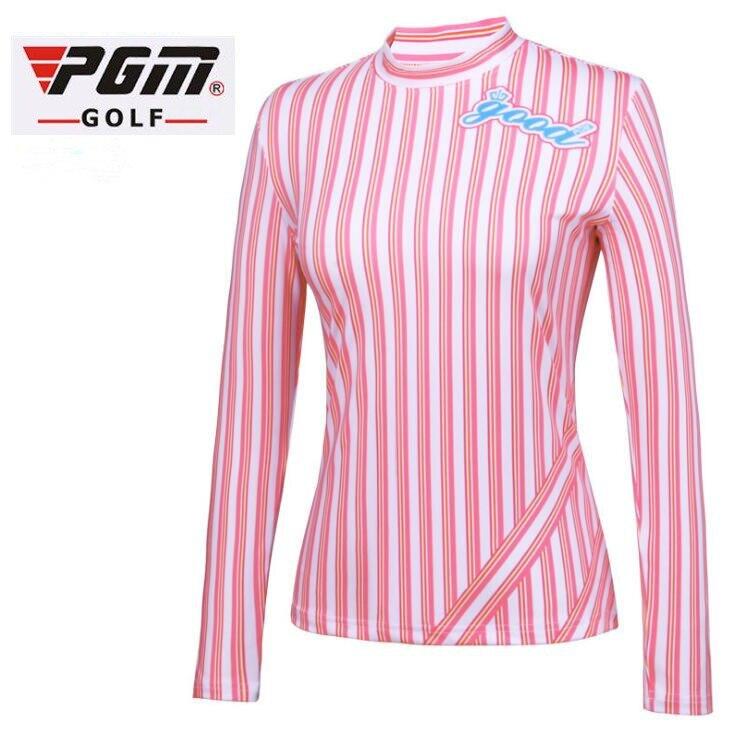 PGM NEW golf wear Autumn women Golf Sports Long Sleeve vertical stripes Shirts Girls breathable quick Dry Elasticity Golf Shirts