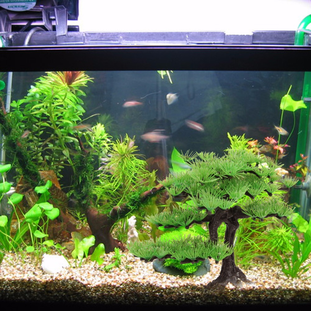 Fish in new aquarium - Aliexpress Com Buy 2017 New Aquarium Artificial Plant Pine Tree Green Plastic Water Plant Fish Tank Aquarium Aquatic Decorative Landscape Supplies From