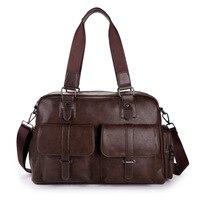 2017 Men Messenger Bag PU Leather Designer Handbags High Quality Large Capacity Travel 14 Inches Laptop
