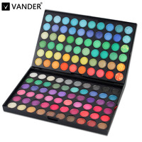 Vander Professional Maquiagem Makeup Eyeshadow Palette 120 Full Color Eye Shadow Palett Make Up Neutral Cosmetics