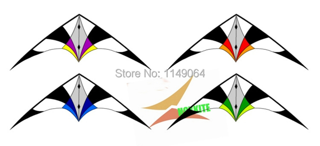 Envío de la alta calidad skybird doble línea cometa del truco con la línea de mango al aire libre juguetes voladores Freilein cometa águila kevlar wei