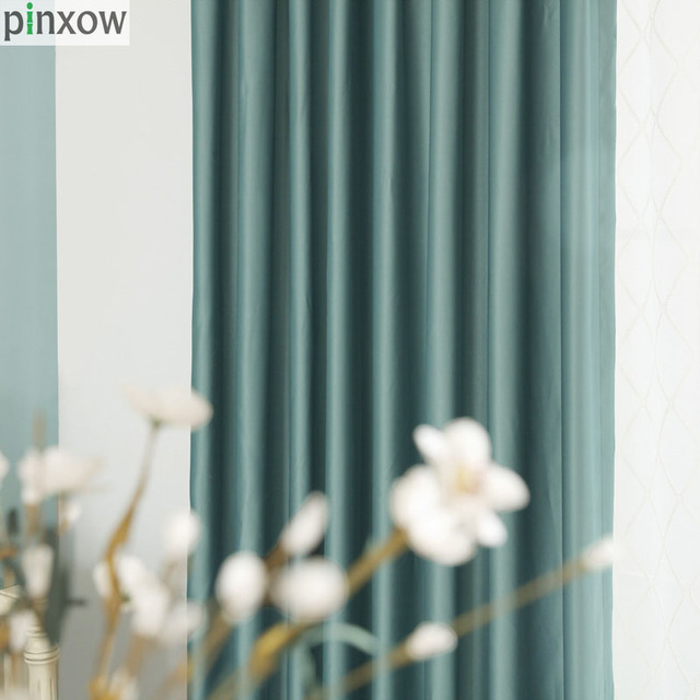 Soft Bedroom Curtains Window Treatments Blackout Silk Curtain Drapes For  Living Room Grey Green Panels Insulated