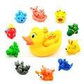 4 pcs De Borracha Raça Squeaky Brinquedos Do Banho Do Bebê Brinquedo Bonito Coelho Animal Set Banho de Água Clássico 0-12 Meses Delphinidae Pato Crocodilo