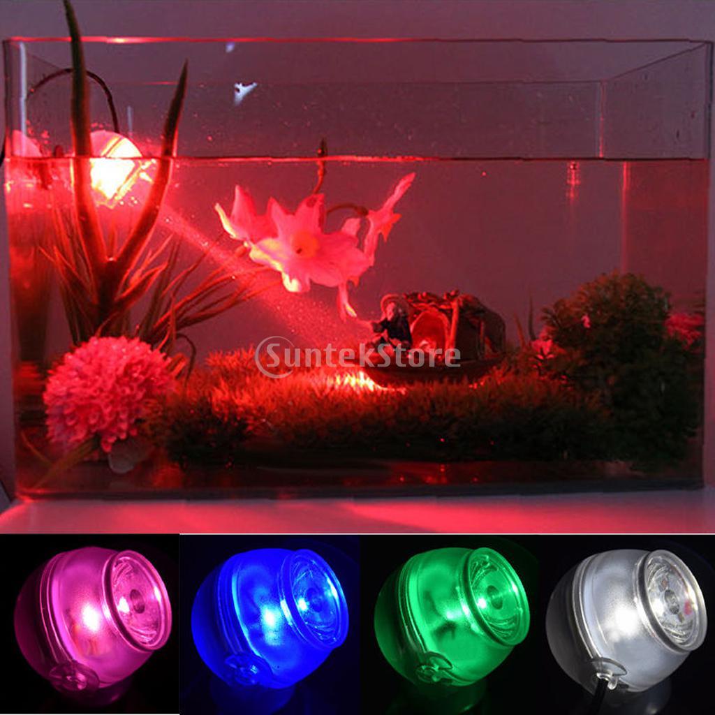 Aquarium Fish Tank LED Submersible Waterproof Air Bubble Light Lamp ...