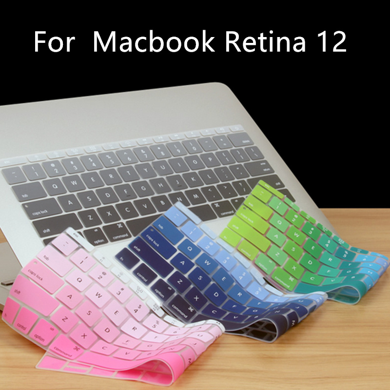 Zimoon Gradient Color Silicon Keyboard Cover Laptop Skin Notebook Protector For Apple Fo ...