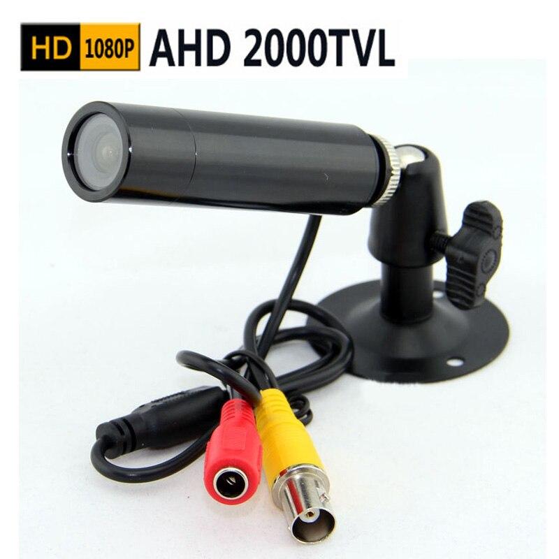 imágenes para Mini Bala Cámara 2000TVL Mini AHD AHD cámara 1080 P 2.0 megapíxeles AHD CCTV cámara de interior de seguridad mini cámara ahd