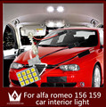 Guang Dian car light led interior light dome vanity light glove step trunk cargo lamp kit T10 festoon for alfa romeo 156 159