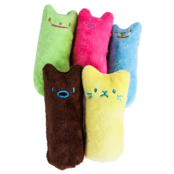 Teeth Grinding Catnip Toys Funny Interactive Plush Cat Toy 4