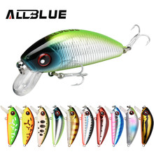 ALLBLUE New Legend Minnow 44mm hundimiento flotante Mini Wobbler pesca señuelo Artificial duro cebo trucha aparejos de pesca Crankbait(China)
