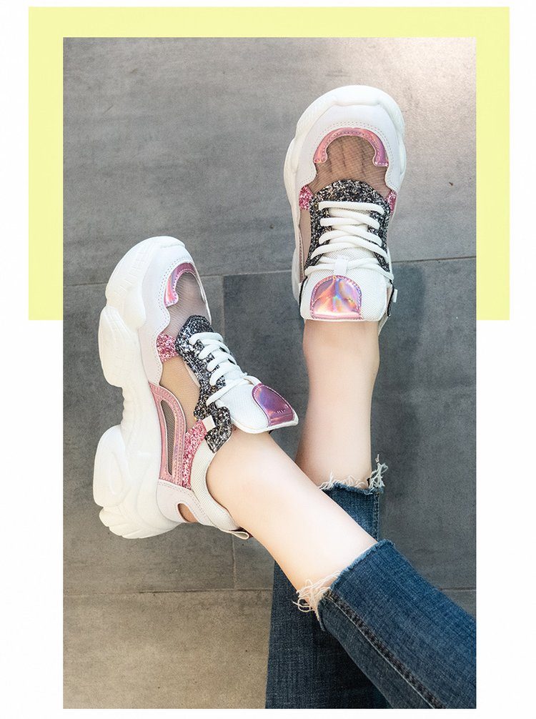 Fashion Bling Platform Chunky Sneakers 5