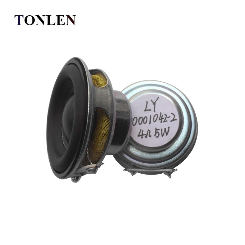 TONLEN 2Pcs 40mm Full Range Բարձրախոս 1.5inch 5W 4ohm HiFi - Դյուրակիր աուդիո և վիդեո - Լուսանկար 3