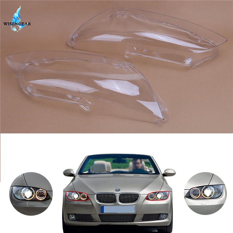 WISENGEAR For BMW E92 E93 M3 Head Light Lamp Cover Clear Lens Shell 3 Series 2 Door Coupe Convertible 2006 2010 Left Right /